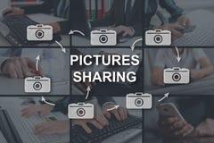 图片分享的概念 免版税图库摄影