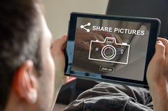 图片分享的概念 免版税库存图片