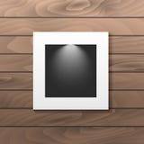 图片安置的垂悬的照片框架 库存照片