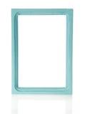 图片或照片的天蓝色的木制框架 库存图片
