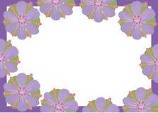 图片淡紫色紫色花的照片框架 库存例证