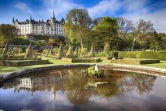 Dunrobin城堡在苏格兰 免版税图库摄影
