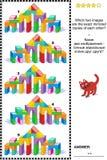 图片谜语-发现两反映了玩具塔门图象的拷贝 向量例证