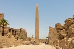 图特摩斯一世方尖碑在阿蒙寺庙 免版税库存图片