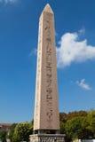 图特摩斯三世方尖碑在伊斯坦布尔 免版税库存图片