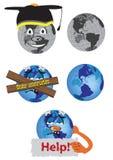 图画乐趣地球 免版税库存照片