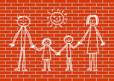 图画墙壁 免版税图库摄影