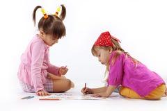 图画孩子 库存照片