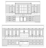 图画家庭厨房向量 免版税库存图片