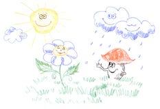 图画开玩笑天气 向量例证