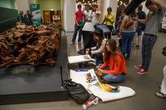 图画教训在博物馆,伦敦 免版税图库摄影