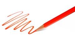 图画线路铅笔红色 免版税库存照片
