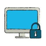 图画计算机互联网保安系统技术 皇族释放例证