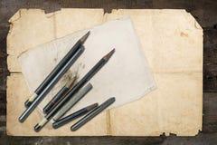 图画铅笔和石墨 库存照片