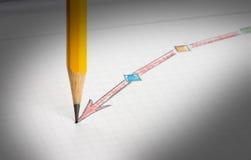 图画铅笔草图成功 免版税库存图片