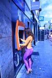 图画货币荷兰语街道 免版税库存照片