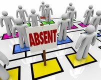 组织系统图的缺席人-迟或迟慢 向量例证