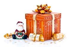 图礼品被包裹的圣诞老人 库存照片