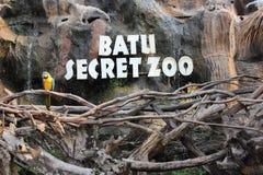 巴图秘密动物园在巴图玛琅东爪哇省印度尼西亚 库存照片