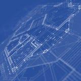 图纸房子计划 免版税图库摄影