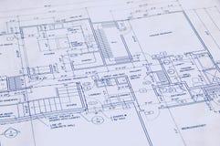 图纸房子 免版税库存图片
