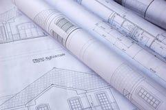 图纸房子 免版税图库摄影
