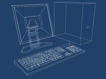 图纸计算机计划 免版税库存图片