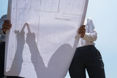 图纸讨论 免版税图库摄影