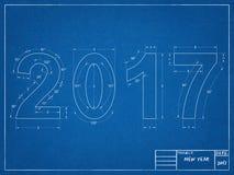 2017图纸 向量例证