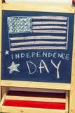 图美国的独立日的标志图画的 库存图片