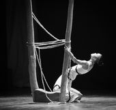 图腾差事到迷宫现代舞蹈舞蹈动作设计者玛莎・葛兰姆里 免版税库存照片