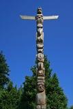 图腾柱在斯坦利停放,温哥华,加拿大 免版税库存图片