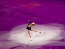 图节目joannie奥林匹克rochette滑冰 免版税库存图片