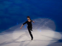 图节目lambiel奥林匹克滑冰的stephane 图库摄影