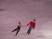 图节目moir奥林匹克滑冰的美德 库存照片