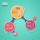 图表、图、图和其他infographics的分子设计传染媒介infographic模板 免版税库存照片