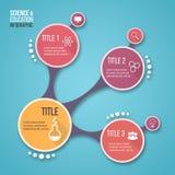 图表、图、图和其他infographics的分子设计传染媒介infographic模板 图库摄影