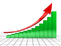 图表上升 免版税库存照片