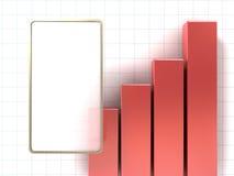 图表上升 免版税图库摄影