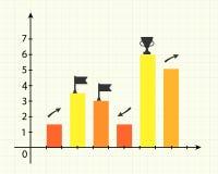 图表为介绍 免版税库存照片