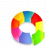 图表五颜六色的回合 库存图片