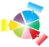 图表五颜六色的饼选项 免版税图库摄影
