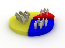 图表人口统计学 向量例证