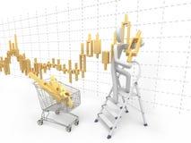 图表做人股票 免版税库存图片