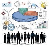 图表分享销售收入研究企业概念 免版税库存照片