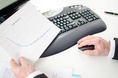 图表分析 免版税库存图片