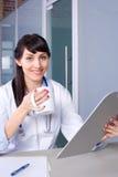 图表医生妇女 库存照片