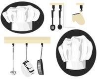 图表厨师象 库存照片