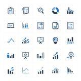 图表和图Icons_蓝色版本设置了2 向量例证