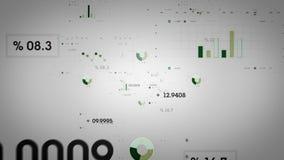 图表和数据绿色轻 库存例证